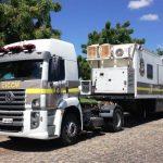 Carreta com equipamentos de observação da Sesed já está na Ilha de Sant'Ana