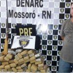 Polícia Civil de Mossoró prende homem com 57 quilos de maconha em sítio