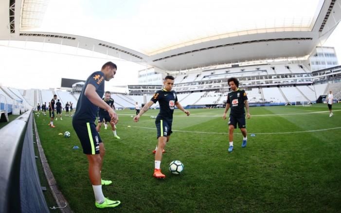 Seleção Brasileira fez treino tático neste domingo Foto Lucas Figueiredo CBF