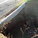 Outro trecho de asfalto da BR 427, distante 5km de Caicó, também está cedendo