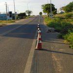 Caicó: Trecho de asfalto da BR 427 está cedendo e oferece risco para motoristas