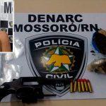 Denarc de Mossoró captura foragido com arma e droga